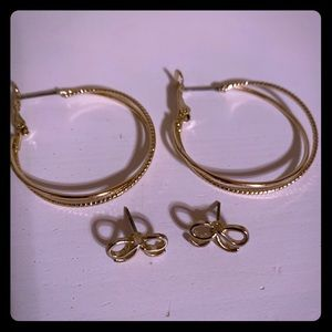 LC Lauren Conrad earrings!  2 pair!